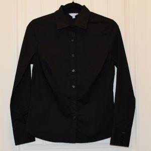 Denver Hayes Black Long Sleeve Button-Up Shirt